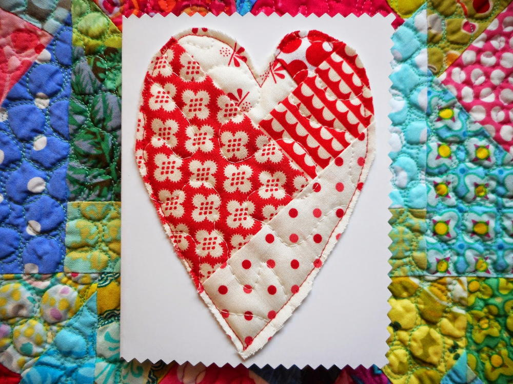 Quilted Valentines Day Note Pattern