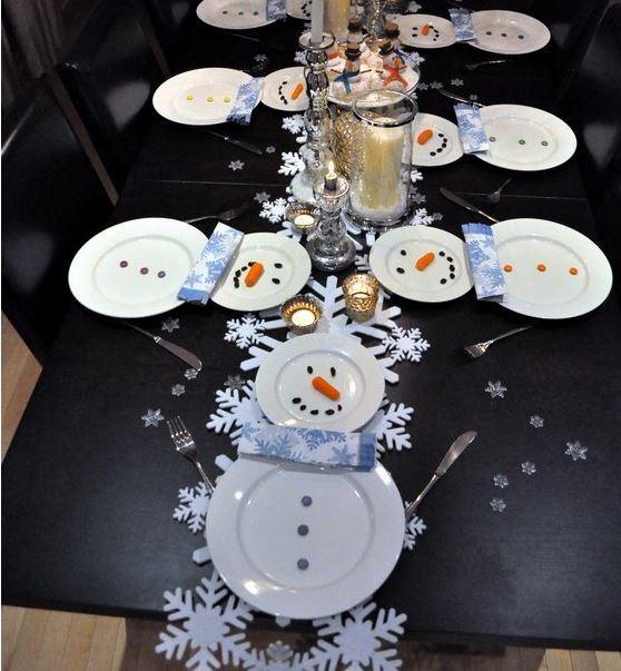Creative Snowman Table Setting Ideas