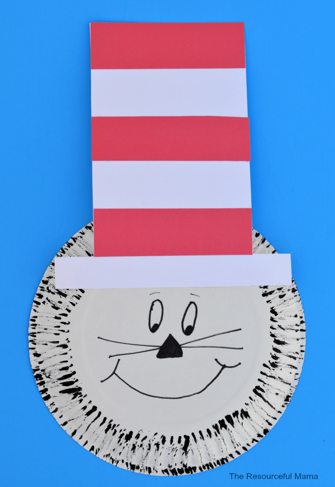 Paper Plate Dr Seuss Cat In The Hat Craft Allfreekidscrafts Com