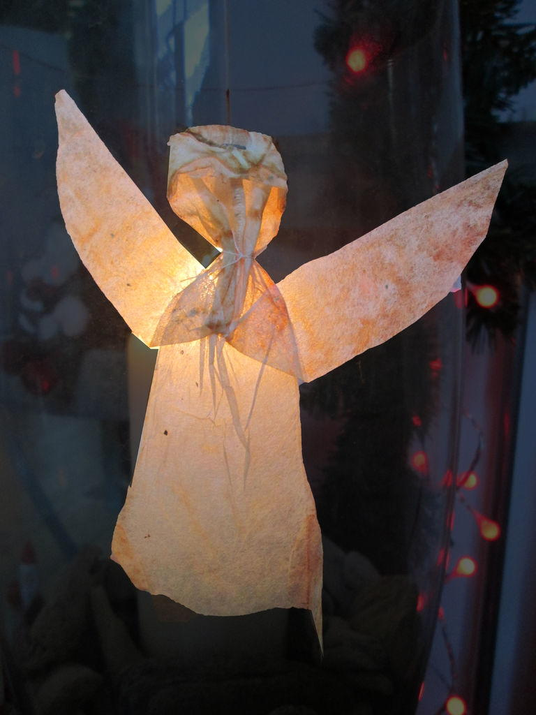 Unique Used Tea Bag Flying Angel