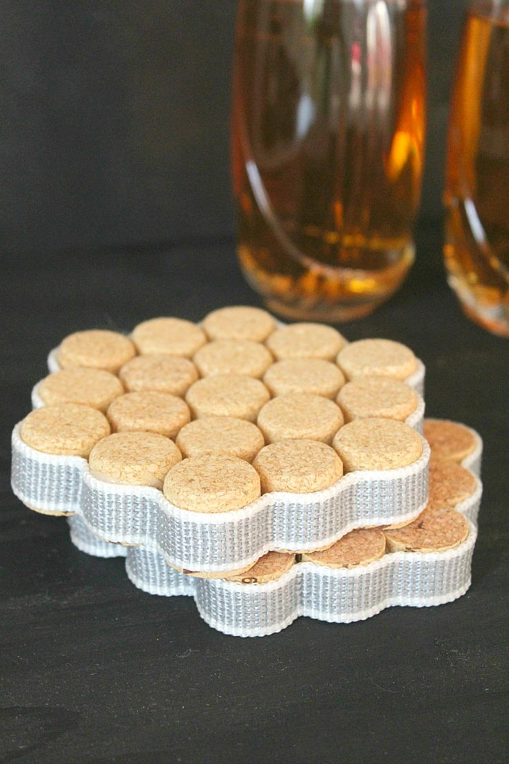 DIY Wine Cork Coasters Tutorial