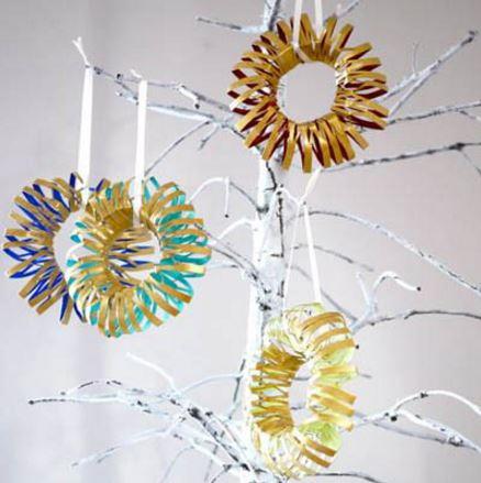 Toilet Paper Roll Wreath Ornaments