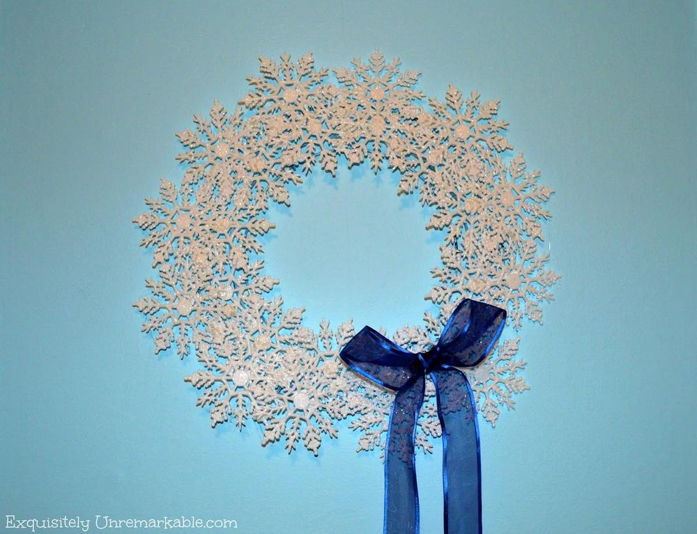 Dollar Store Snowflake DIY Wreath