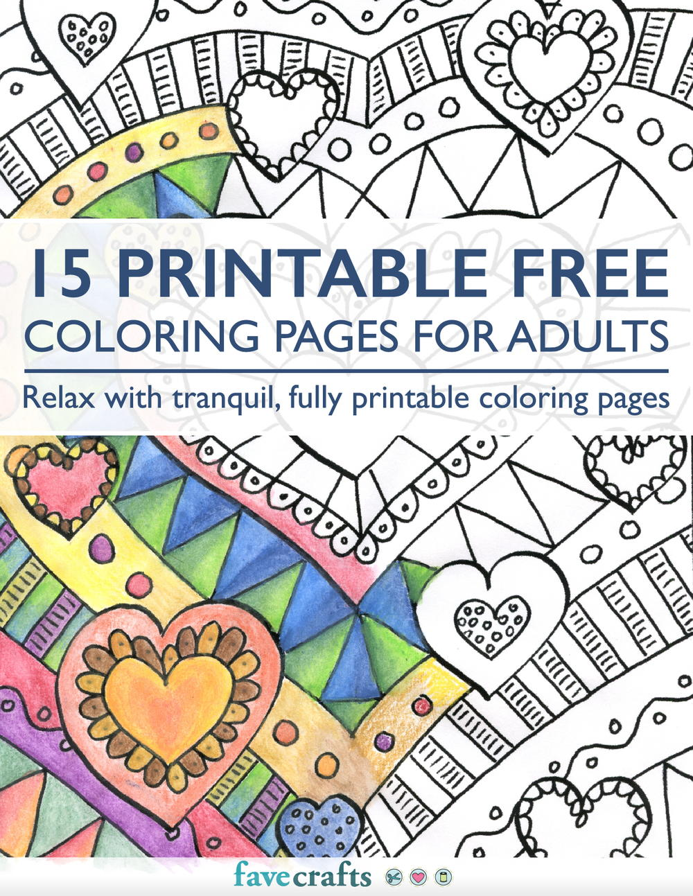 15 Printable Free Coloring Pages for Adults [PDF ... | free online coloring pages for adults easy
