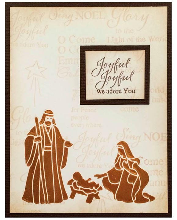 Joseph And Mary DIY Christmas Card