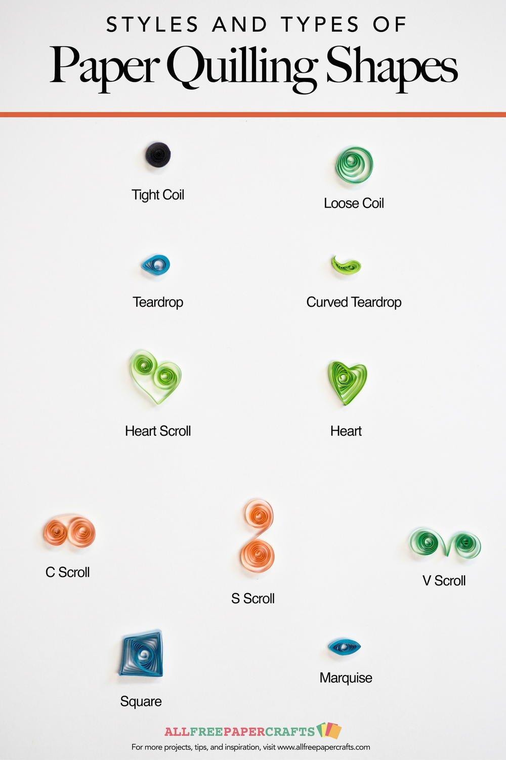 Paper Quilling Shapes Infographic