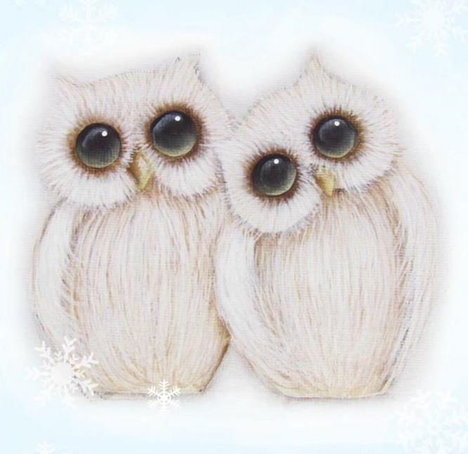 Woodland Winter Owl Printable Ornaments