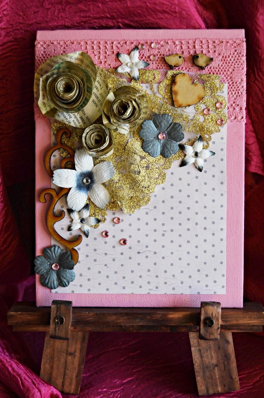 Paper Rose DIY Mixed Media Art