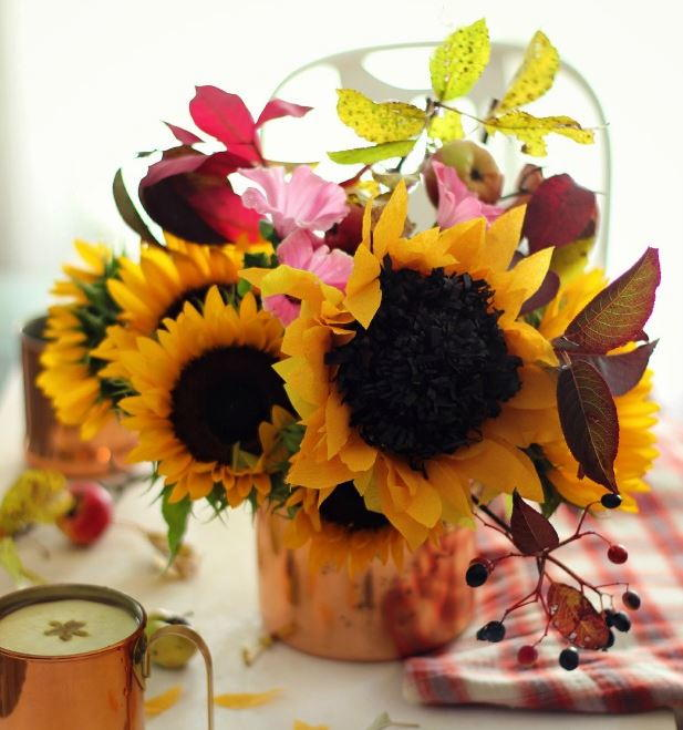 To The Light DIY Paper Sunflowers