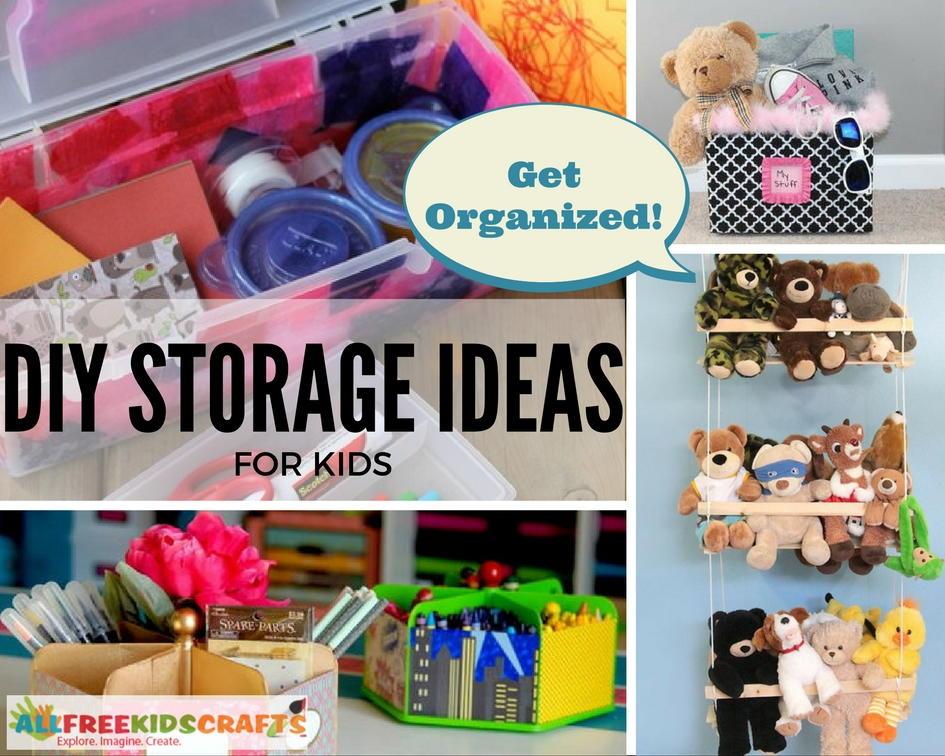 Get Organized With 30 DIY Storage Ideas For Kids