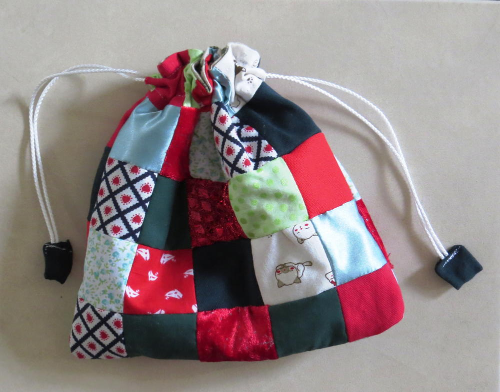Scrappy Patchwork Gift Bag