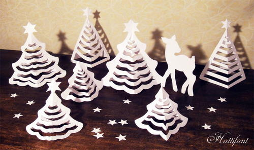 Delicate Christmas Tree 3D Paper Art