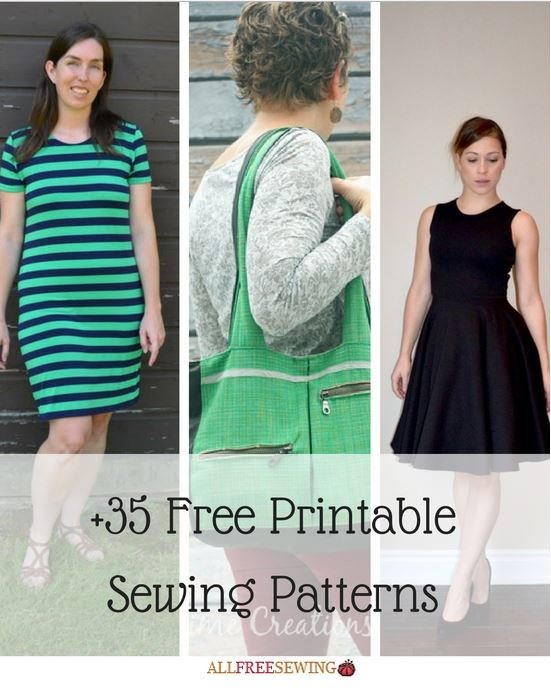 35 Free Printable Sewing Patterns