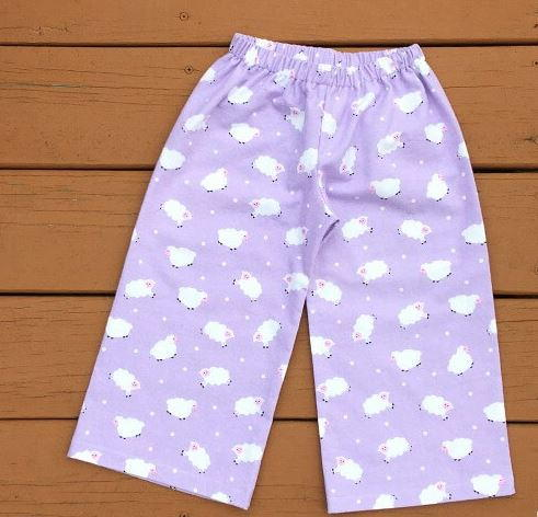 Free PJ Pants Pattern For Older Kids