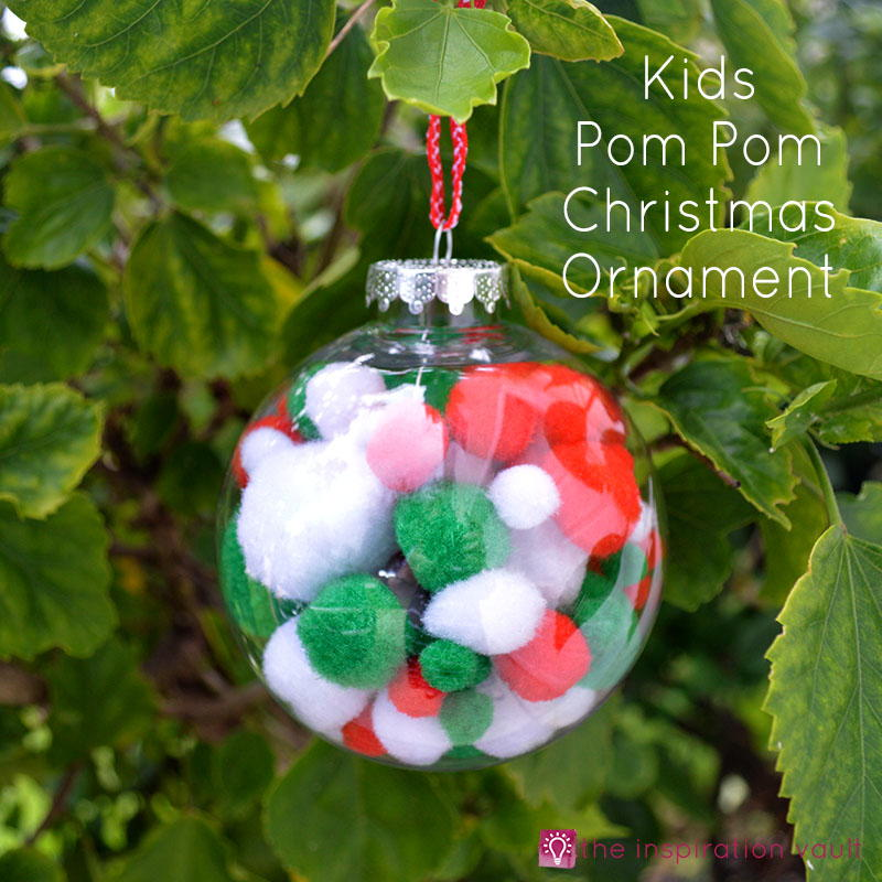 Kids Pom Pom Christmas Ornament