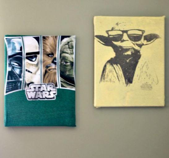 Upcycled Shirt DIY Canvas Art