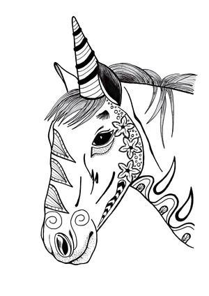 Unicorn Coloring Page Pdf Download Favecrafts Com