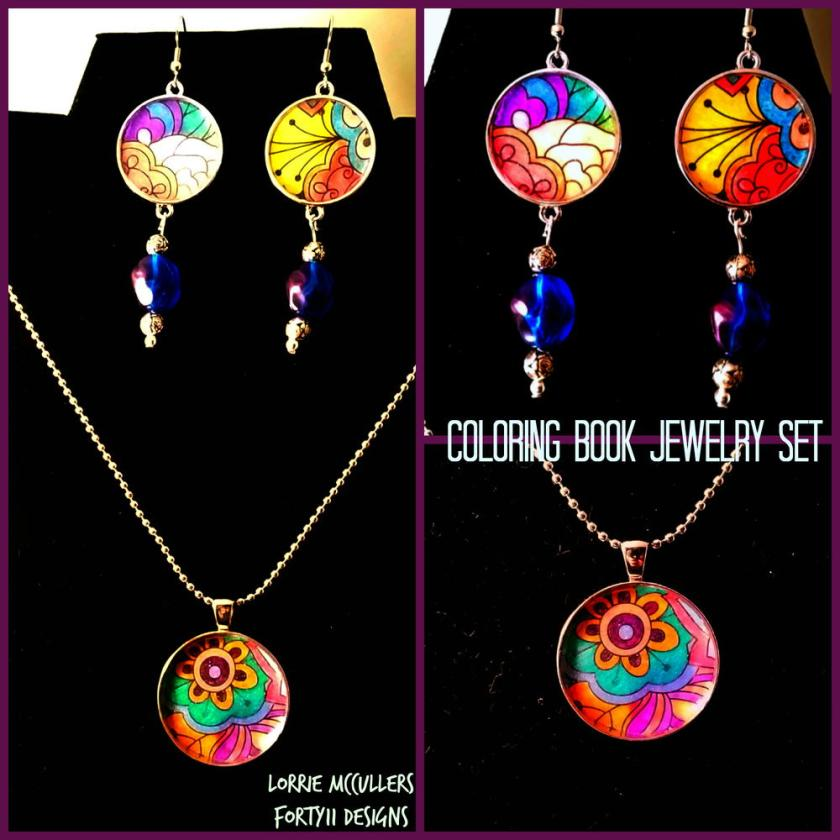 coloring book jewelry set  favecrafts