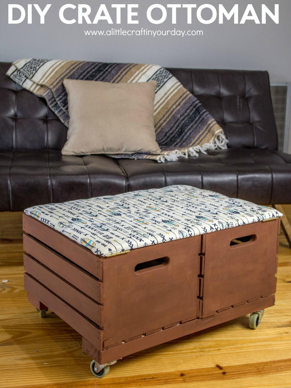 Large Leather Ottoman Storage