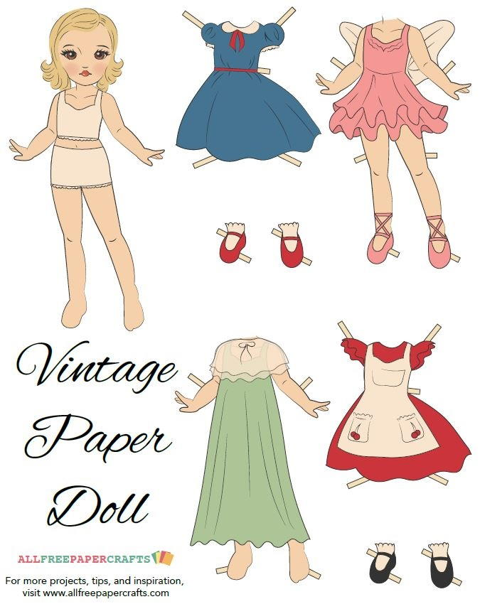 Large Paper Doll Template