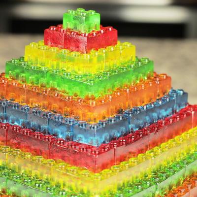 Stackable Gummy Lego Jell O Candy Pyramid Recipelion Com