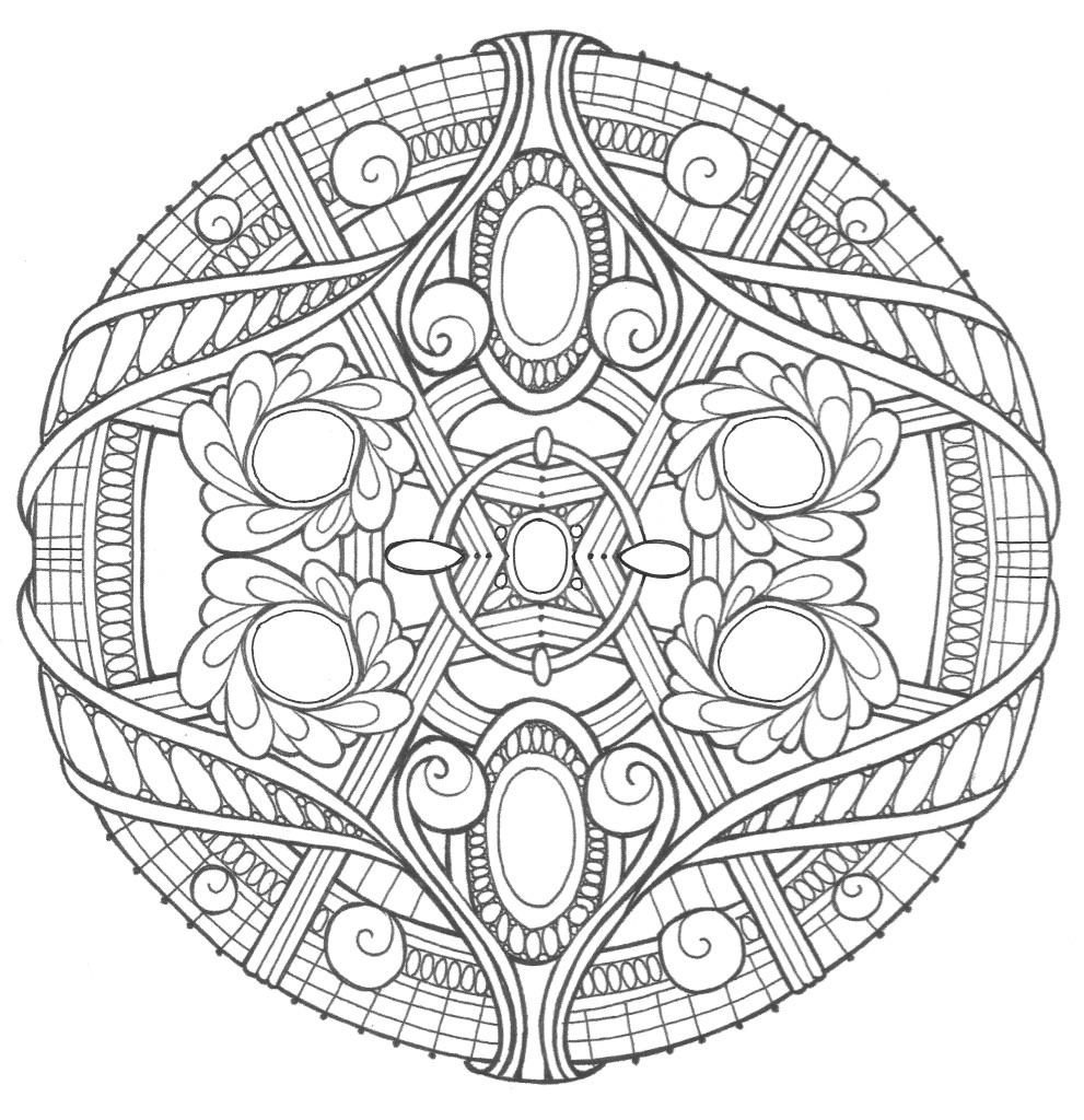 Opal Palace Mandala Coloring Page | FaveCrafts.com | coloring sheets for adults mandala