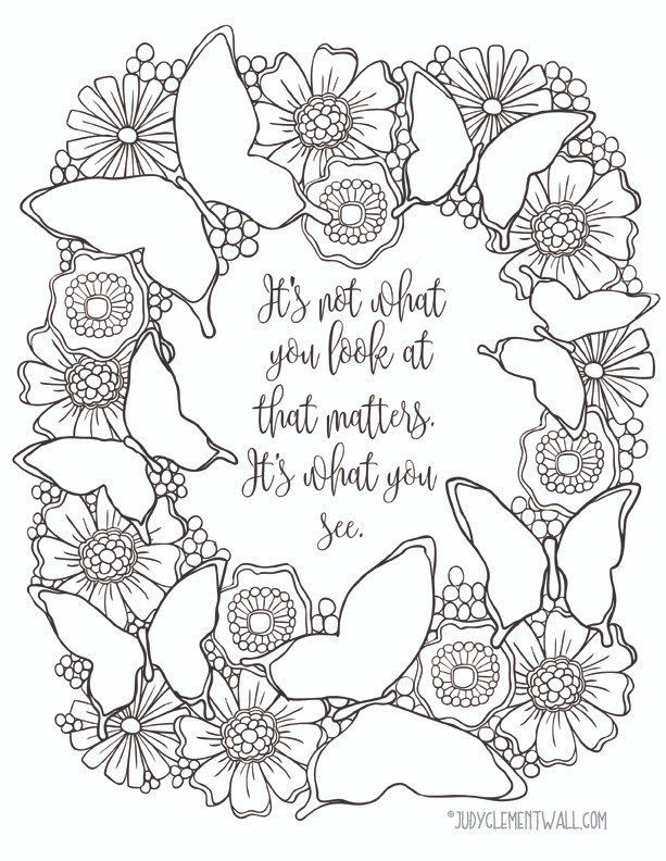 What You See Inspirational Butterfly Coloring Page Favecrafts Com