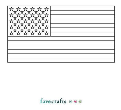 Printable American Flag Favecrafts Com