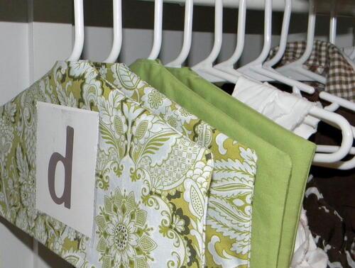 diy hanging closet dividers