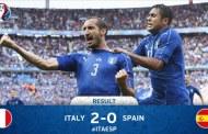 Revanşă după patru ani: Italia - Spania 2-0