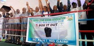 Sierra Leone Boxing Association (SLBA) Boxing Gym Uplifted