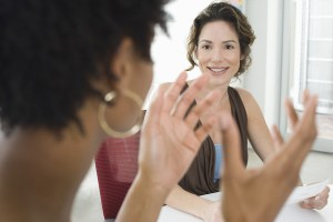 employee practicing communication skills
