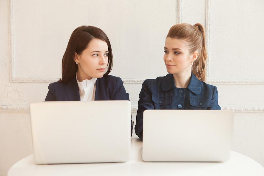 women on laptops