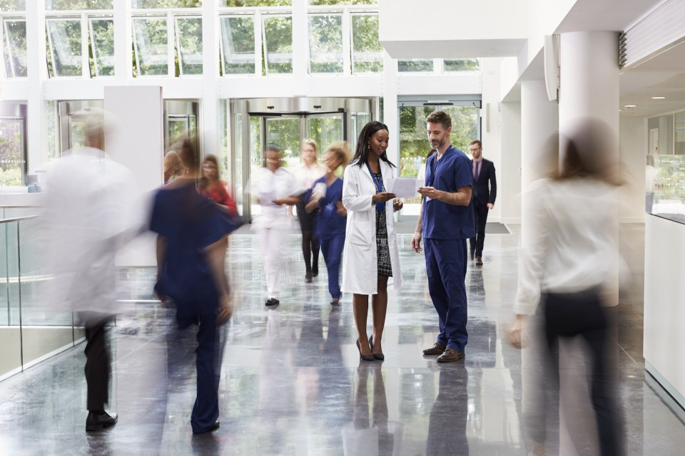 doctors in a hospital hallway