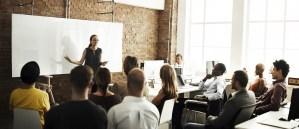 employees attending a meeting