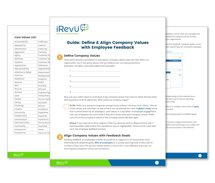 Guide: Define & Align Company Values with Employee Feedback Mockup