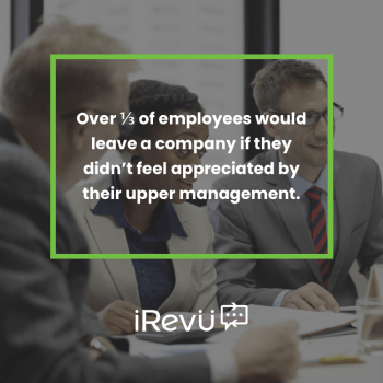 over a third of employees would leave a company if they didn't feel appreciated by management