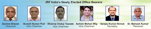 New Governing Council of IRF – India Chapter