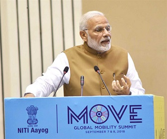 PM Modi delivers his vision for the Future of Mobility in India