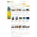 Screenshot der kostenlosen Bilddatenbank freeimanges.com