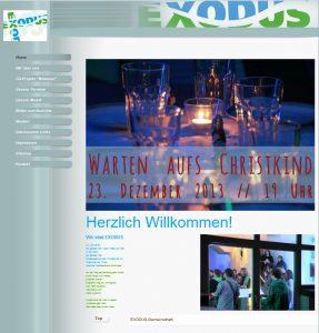 Screenshot exodusgemeinschaft.de Mai 2014