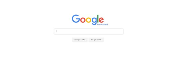 Screenshot Startseite Google