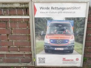 Plakat mit Rettungswagen nicht optimiert für Suchmaschinen
