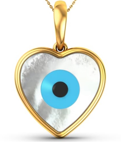 Heart Evil Eye Gemstone Pednant Just 194 460 Euro