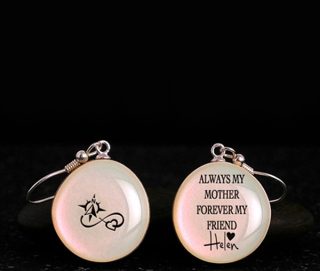 Gifts For Mother From Daughter Or Son Cool Earrings With Quote Silhouette Homemade