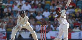 Half centuries by Chase, Hope & Hetmyer highlight day one for Windies vs England