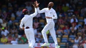 Roston Chase takes 8-60 as Windies demolish England by 381 runs