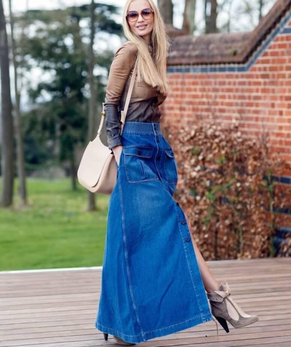 Джинсовая юбка с чем носить: фото самых модных образов