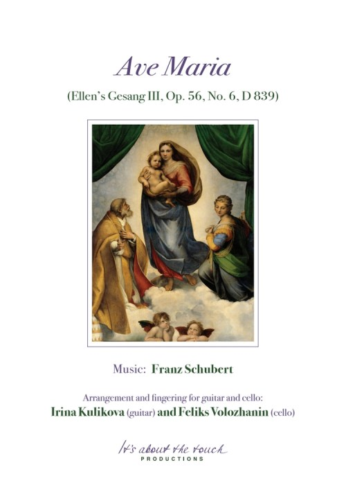 Franz Schubert - Ave Maria score cover