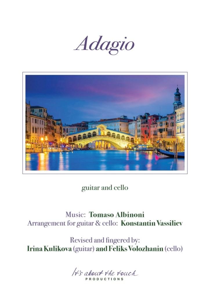 Tomaso Albinoni - Adagio score cover